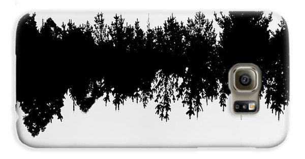 Sound Waves Made Of Trees Reflected Galaxy S6 Case