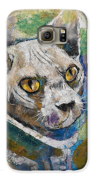 Space Cat Galaxy S6 Case by Michael Creese