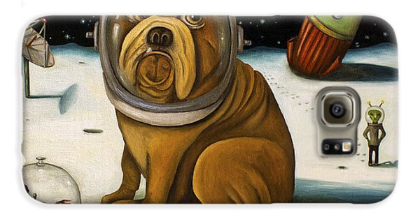Dog Galaxy S6 Case - Space Crash by Leah Saulnier The Painting Maniac