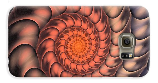 Galaxy S6 Case featuring the digital art Spiral Shell by Anastasiya Malakhova