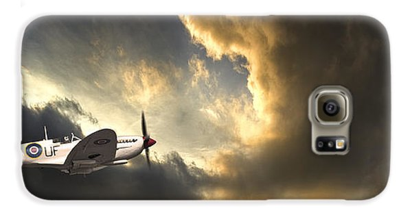 Airplane Galaxy S6 Case - Spitfire by Meirion Matthias