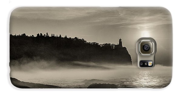 Galaxy S6 Case featuring the photograph Split Rock Lighthouse Emerging Fog by Rikk Flohr