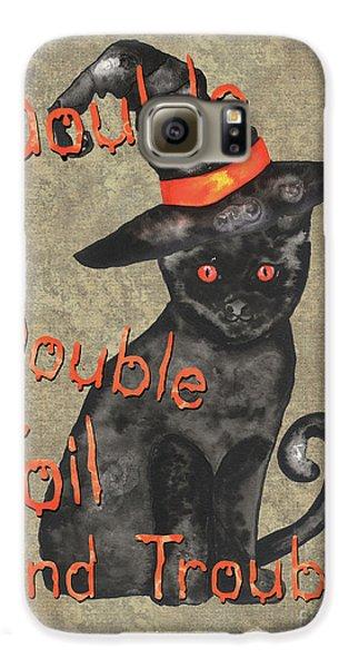 Bat Galaxy S6 Case - Spooky Pumpkin 3 by Debbie DeWitt