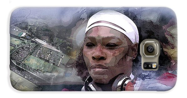 Venus Williams Galaxy S6 Case - Sports 219 by Jani Heinonen