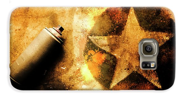 Visual Galaxy S6 Case - Spray Can With Army Star Graffiti by Jorgo Photography - Wall Art Gallery