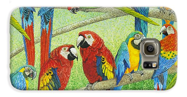 Macaw Galaxy S6 Case - Spreading The News by Pat Scott