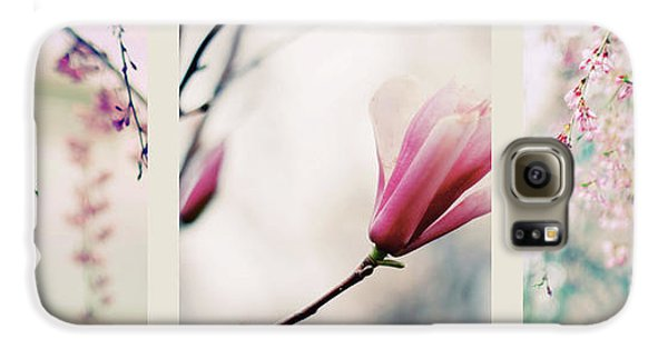 Galaxy S6 Case featuring the photograph Spring Blossom Triptych by Jessica Jenney