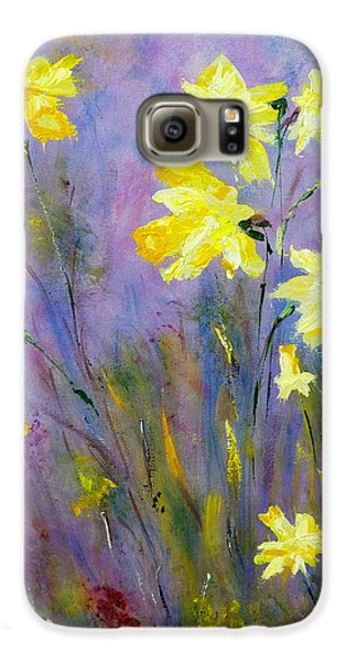 Galaxy S6 Case featuring the painting Spring Daffodils by Claire Bull