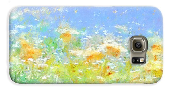 Spring Meadow Abstract Galaxy S6 Case
