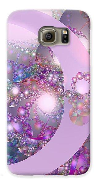 Spring Moon Bubble Fractal Galaxy S6 Case