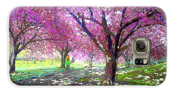 Spring Rhapsody, Happiness And Cherry Blossom Trees Galaxy S6 Case