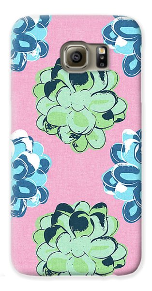 Spring Succulents- Art By Linda Woods Galaxy S6 Case by Linda Woods