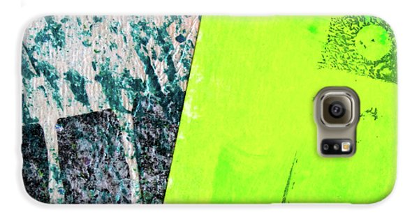 Galaxy S6 Case featuring the mixed media Square Collage No 1 by Nancy Merkle