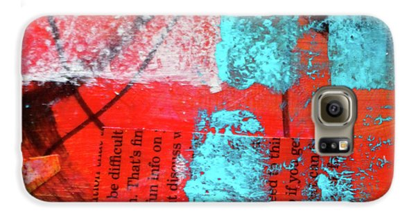 Galaxy S6 Case featuring the mixed media Square Collage No. 10 by Nancy Merkle