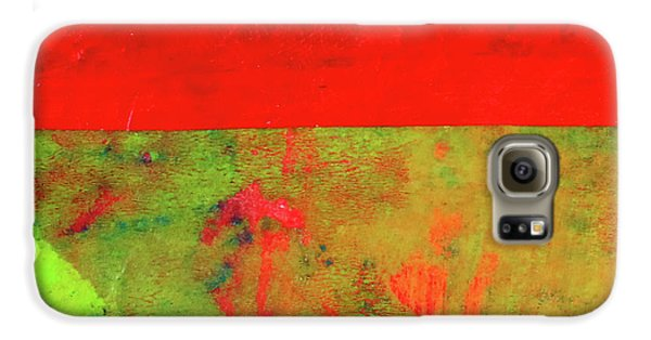 Galaxy S6 Case featuring the mixed media Square Collage No. 11 by Nancy Merkle