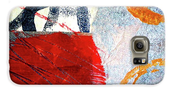 Galaxy S6 Case featuring the painting Square Collage No. 3 by Nancy Merkle