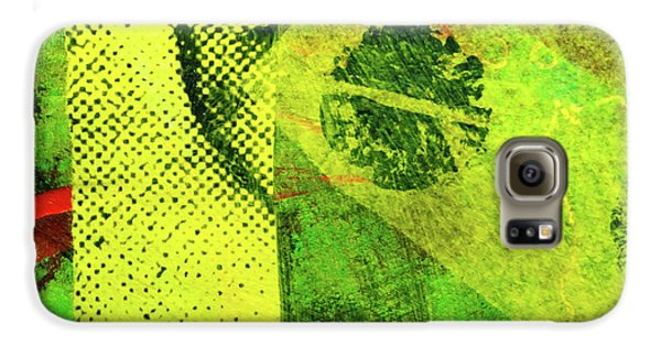 Galaxy S6 Case featuring the mixed media Square Collage No. 8 by Nancy Merkle