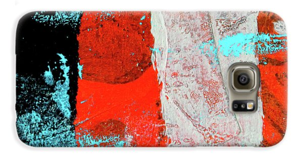 Galaxy S6 Case featuring the mixed media Square Collage No. 9 by Nancy Merkle