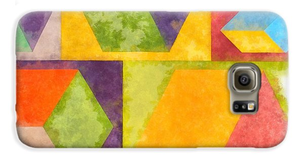 Galaxy S6 Case - Square Cubes Abstract by Edward Fielding