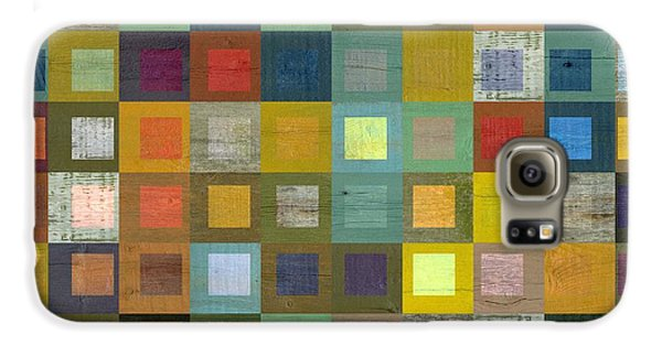 Galaxy S6 Case featuring the digital art Squares In Squares Five by Michelle Calkins