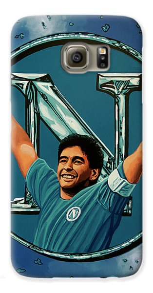 Blues Legend Galaxy S6 Case - Ssc Napoli Painting by Paul Meijering