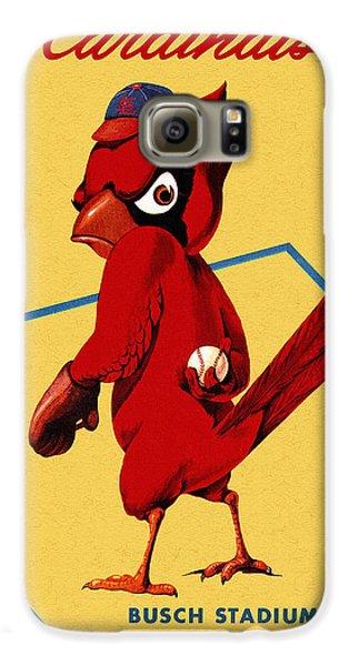 St. Louis Cardinals Vintage 1956 Program Galaxy S6 Case