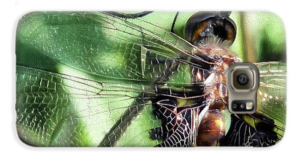 Galaxy S6 Case featuring the digital art Stained Glass Dragonfly by JC Findley
