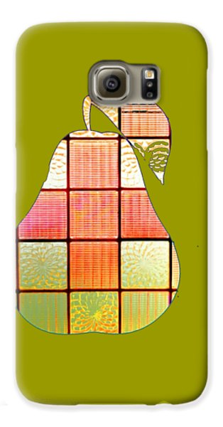 Stained Glass Pear Galaxy S6 Case