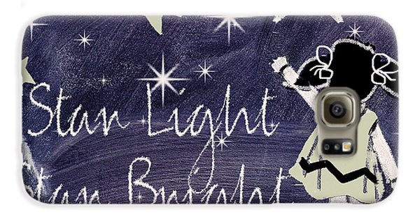 Star Light Star Bright Chalk Board Nursery Rhyme Galaxy S6 Case by Mindy Sommers