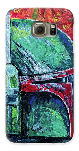 Galaxy S6 Case featuring the painting Star Wars Helmet Series - Boba Fett by Aaron Spong
