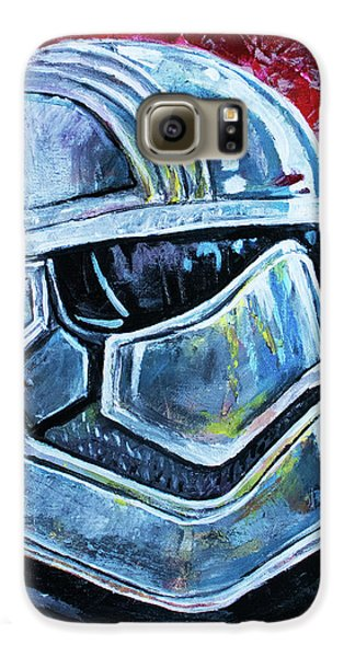 Galaxy S6 Case featuring the painting Star Wars Helmet Series - Captain Phasma by Aaron Spong
