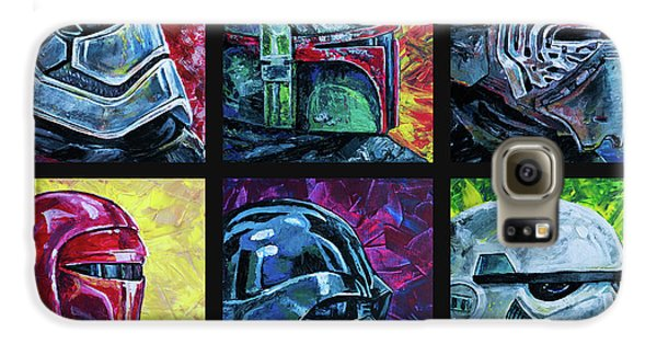 Galaxy S6 Case featuring the painting Star Wars Helmet Series - Collage by Aaron Spong