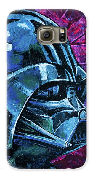 Galaxy S6 Case featuring the painting Star Wars Helmet Series - Darth Vader by Aaron Spong