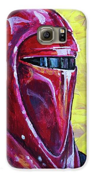 Galaxy S6 Case featuring the painting Star Wars Helmet Series - Imperial Guard by Aaron Spong