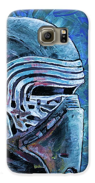 Galaxy S6 Case featuring the painting Star Wars Helmet Series - Kylo Ren by Aaron Spong