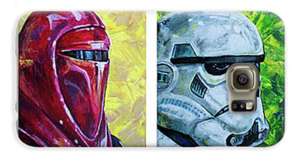 Galaxy S6 Case featuring the painting Star Wars Helmet Series - Panorama by Aaron Spong
