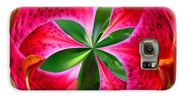 Galaxy S6 Case featuring the photograph Stargazer Lily Orb by Bill Barber
