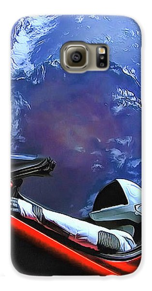Starman In Tesla With Planet Earth Galaxy S6 Case