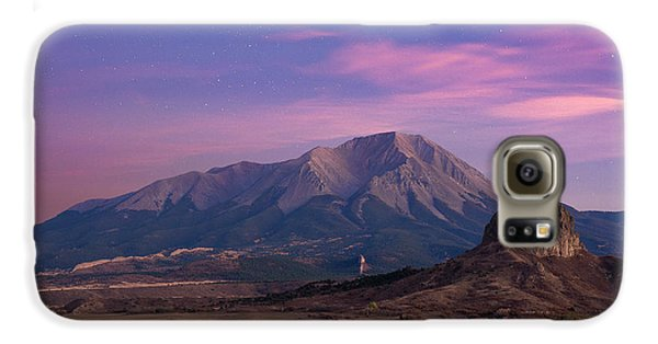 Galaxy S6 Case featuring the photograph Starry Sunset Over West Spanish Peak by Aaron Spong