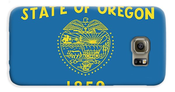 State Flag Of Oregon Galaxy S6 Case by American School
