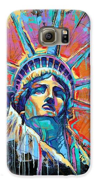 Statue Of Liberty Galaxy S6 Case - Statue Of Liberty New York Art Usa by Damon Gray