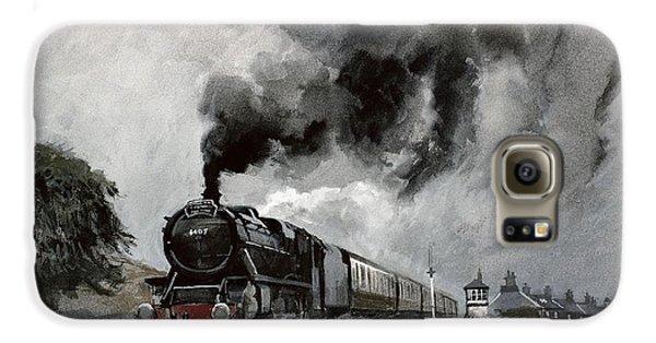 Steam Train At Garsdale - Cumbria Galaxy S6 Case