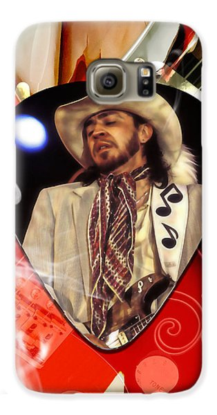 Rock And Roll Galaxy S6 Case - Stevie Ray Vaughan Art by Marvin Blaine
