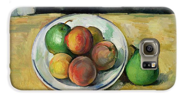 Still Life With A Peach And Two Green Pears Galaxy S6 Case