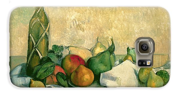 Still Life With Bottle Of Liqueur Galaxy S6 Case by Paul Cezanne