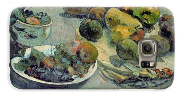 Still Life With Fruit Galaxy S6 Case by Paul Gauguin