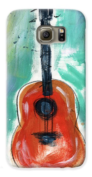 Music Galaxy S6 Case - Storyteller's Guitar by Linda Woods