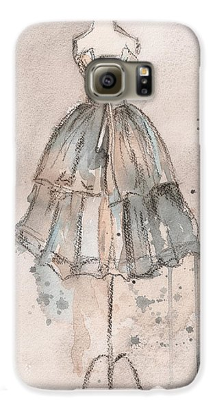 Strapless Champagne Dress Galaxy S6 Case by Lauren Maurer