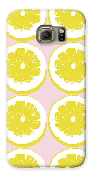 Strawberry Galaxy S6 Case - Strawberry Lemonade- Art By Linda Woods by Linda Woods