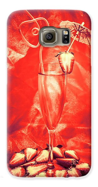 Strawberry Galaxy S6 Case - Straweberry Tropical Cocktail Drink by Jorgo Photography - Wall Art Gallery